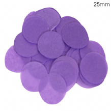 Purple Tissue Paper Confetti | 25mm Round | 100g Bag